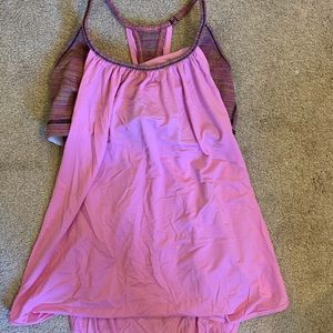 LULULEMON top with built in bra size 6